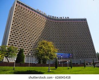 TASHKENT, UZBEKISTAN - SEPTEMBER 15, 2016: Hotel Uzbekistan, Tashkent