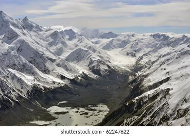 Tasman Glacier ,Mount Cook National Park,New Zealand
