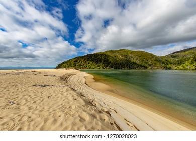 Tasman Sea and the Able Tasman trail on the South Island of New Zealand