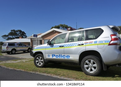 TASMANIA - MAR 14 2019:Tasmanian Police Vehicles.Tasmania Police is the police force of the Australian state of Tasmania. Established in 1899 policing Tasmania's population of about 500,000 people.