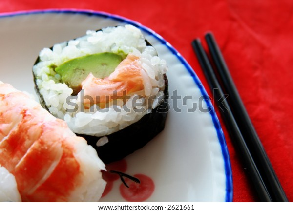 A taste of California Roll and Sushi on a Plate