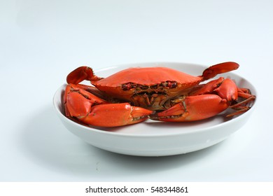 tasteful cooked crab in dish