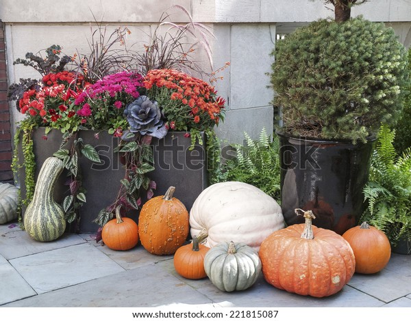 Tasteful home decorations welcoming the fall season.