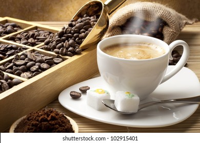 tasting coffee. Arabica Coffee, Brazilian Coffee, Coffee Kenya, Colombian Cofee, roasted coffee, Costa Rica Coffee, Ethiopian coffee, Coffee of Jamaica, Indonesian Coffee, coffee mocha