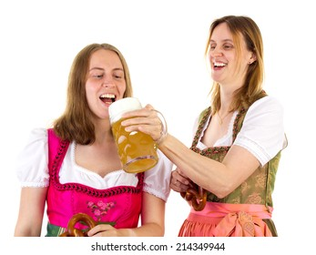 Tasting double beer at oktoberfest