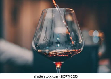 Tasting Red Wine Glass - Close UP