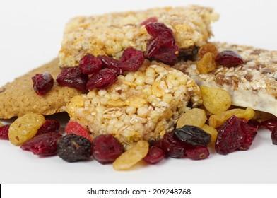 Tasty berry and musli bars Healthy food