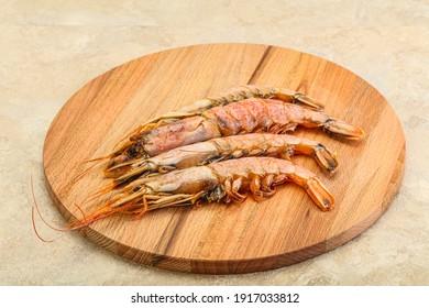 Tasty big Langoustine seafood over the board