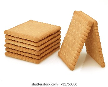 Tasty biscuits isolated