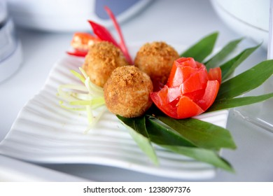 Tasty Bitterballen on a Plate