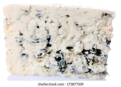 Tasty blue cheese, isolated on white
