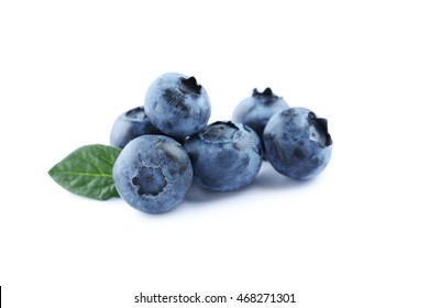Tasty blueberries isolated on a white