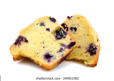 Tasty Blueberry Muffin on cutting