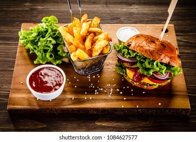 Chicken Schnitzel Burger Hd Stock Images Shutterstock