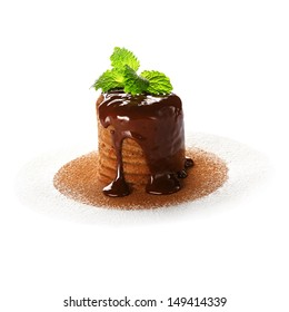 Tasty cake on a white background