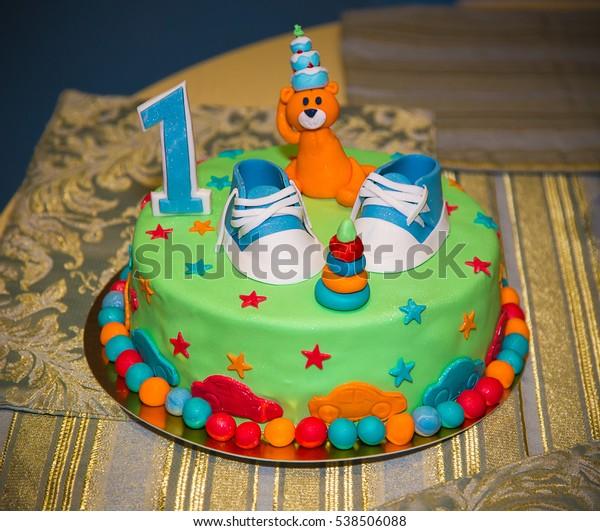 Strange Tasty Cake One Year Old Baby Stock Photo Edit Now 538506088 Personalised Birthday Cards Vishlily Jamesorg