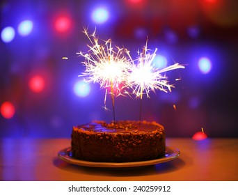 Swell Birthday Cake Sparkler Images Stock Photos Vectors Shutterstock Personalised Birthday Cards Paralily Jamesorg