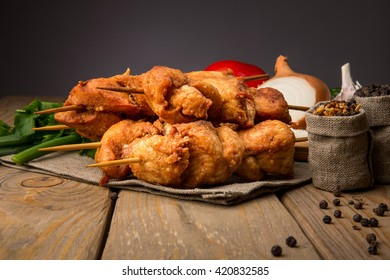 Tasty chicken barbecue