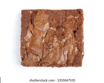 Tasty chocolate brownie pie isolated on white background