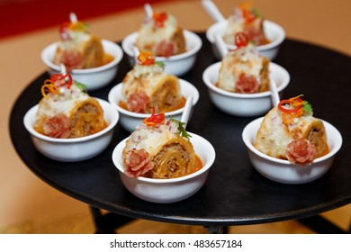 Tasty Cocktail food or appetizer food for banquet