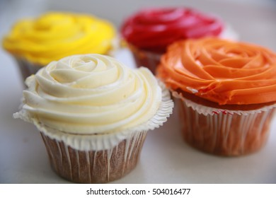 Tasty colour cupcakes