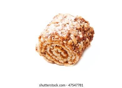 Tasty cookie on white background. Food image series