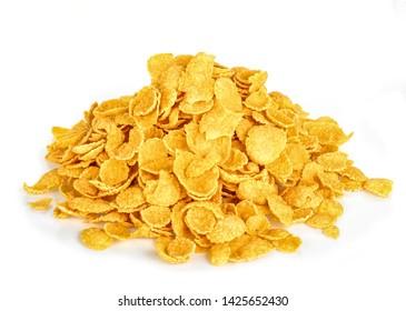 tasty cornflakes isolated on white