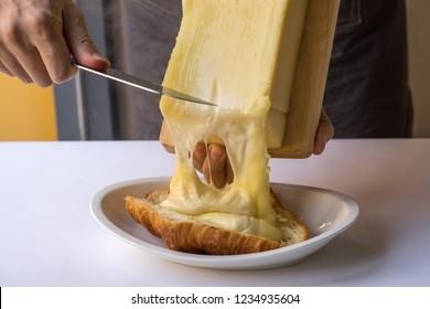 tasty croissant raclette