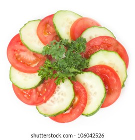 Tasty cucumber and tomato background