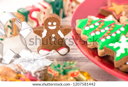 Tasty Cute Baked Christmas Cookies Gingerbread Stock Photo Edit Now