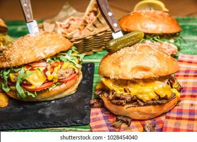 Tasty different fast food