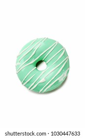 Tasty donut isolated on a white