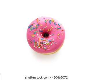 Tasty donut isolated on white background. Donuts