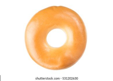 Tasty donut isolated on white background. Include clipping path for change background.
