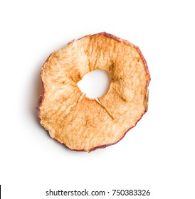Tasty dried apples isolated on white background.