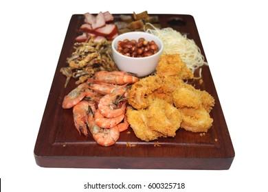 tasty food menu assorted Seafood