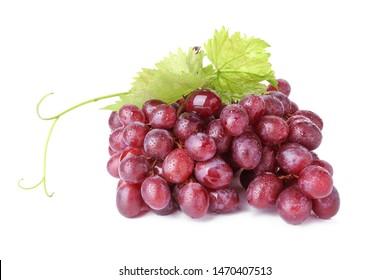 Tasty fresh grapes on white background