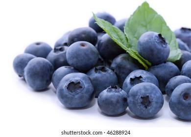 Tasty fresh organic blueberries