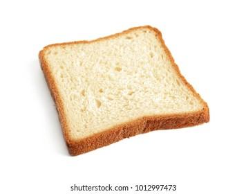 Tasty fresh toast on white background