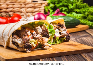 Turkish Kebab Roll Images Stock Photos Vectors Shutterstock