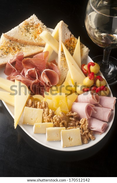 tasty and generous cheese platter to share