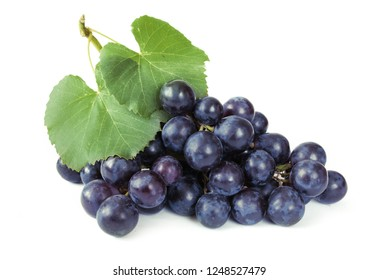 tasty grapes branch isolated on white background