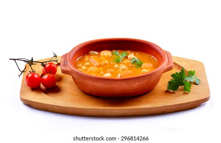 Tasty healthy soup with vegetables