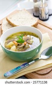tasty home made mushroom soup