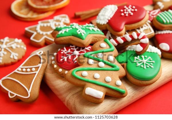 Tasty Homemade Christmas Cookies Closeup Stock Photo Edit Now