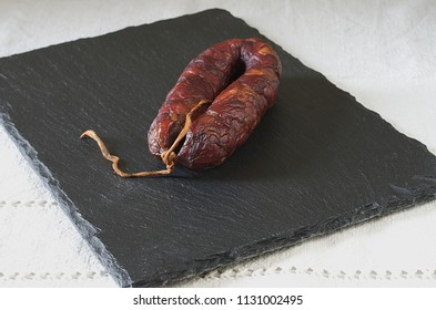 Tasty homemade sausage with great colors