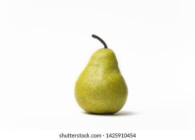 tasty juicy pear on white background proper diet