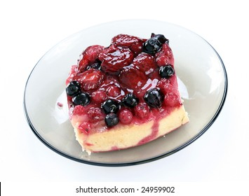 Tasty low calorie fruit tart