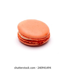 Tasty macaroon isolate on with background