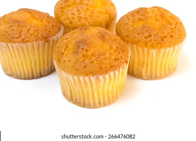 Tasty muffin isolated on white background